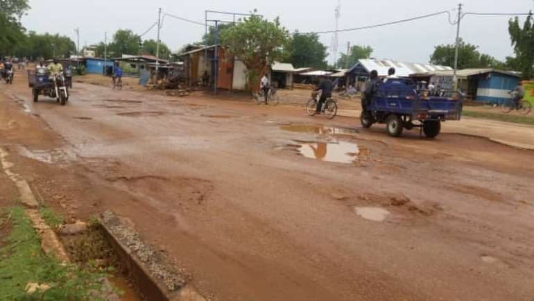 This stretch is between A disco chop bar and the Bawku Municipal Assembly