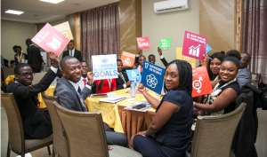 Shot from a Youth SDGs workshop organized by Young Diplomats of Ghana