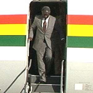 President returns home from US