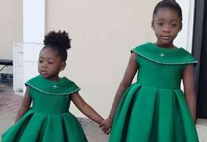 Actress, Mercy Johnson Flaunts Growing Daughters in Matching outfit