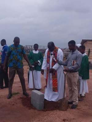 Missionary Group Cuts Sod For Building Of School, Hospital And Church