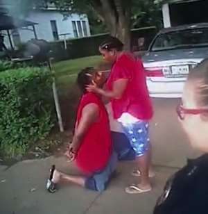 Watch: Oklahoma man proposes to girlfriend while under arrest