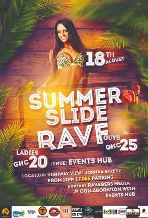 Maiden Summer Slide Rave to Hold on 18th August