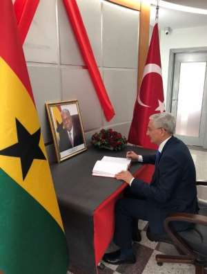 Turkey's Director General Of Africa, Ministry Of Foreign Affairs Signs Book Of Condolence For Amissah-Arthur