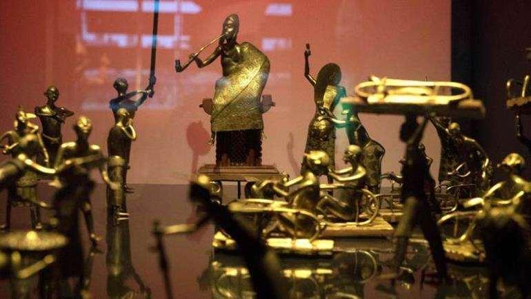 The Ato ceremony, Kingdom of Dahomey, Republic of Benin, displayed at Musée du quai Branly, Paris.