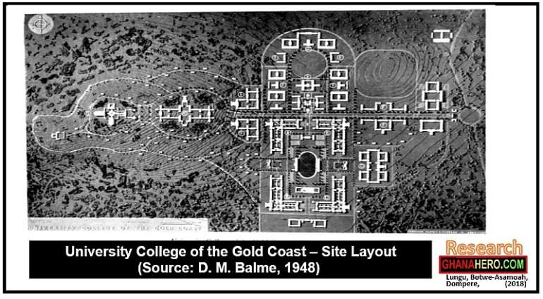 (Above - photo): University College of the Gold Coast – Site Layout, 1948)