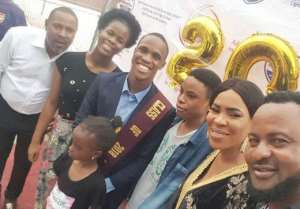 Actor, Saheed Balogun, Fathia Steps out in Style to Support Son's Graduation