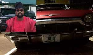 Actor, Kunle Afolayan Acquires new Vintage Car