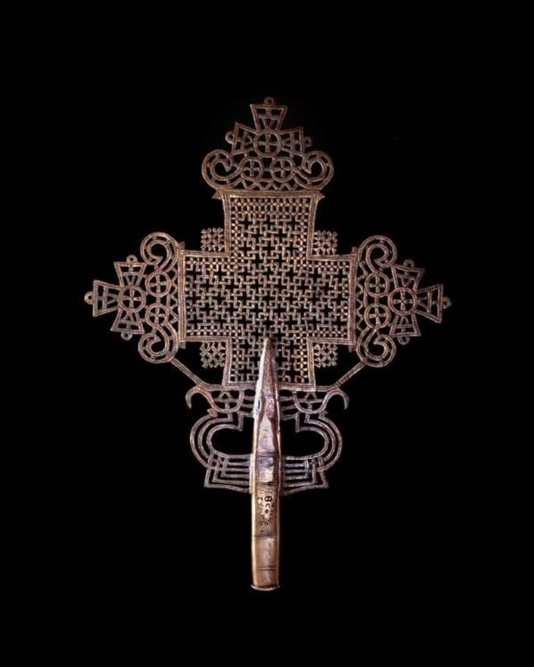 <em>Ethiopian cross, Ethiopia, now in British Museum, London, United Kingdom.</em>