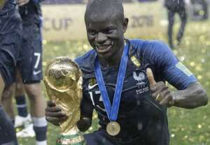 2018 World Cup: N'Golo Kante Was Too Shy To Ask To Hold The World Cup Trophy So Steven N'Zonzi Forced Him