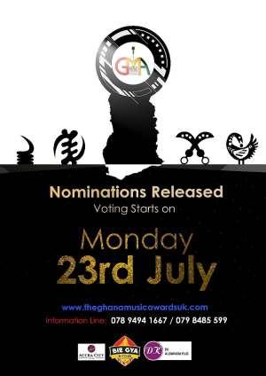 Full List of Nominees for 2018  Ghana Music Awards UK