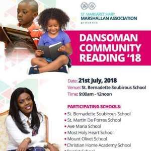 'Dansoman Community Reading'18' Comes Off Saturday, June 21