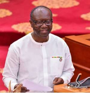 Finance Minister, Ken Ofori-Atta delivery the 2018 mid-year budget review statement