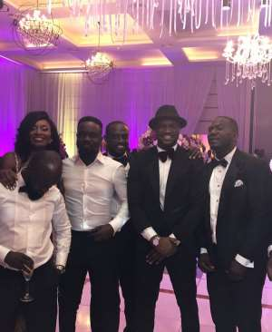 Exclusive Photos From Sarkodie And Tracy's White Wedding