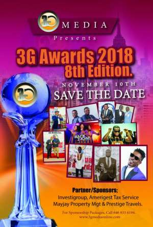 The 8th Annual 3G Awards in NY Happening On November 10th