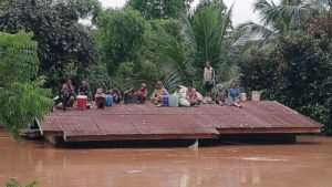 Hundreds missing after Laos dam collapse
