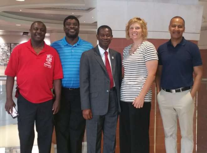Gsts-headmaster (middle) During Tour Of Some Us High Schools
