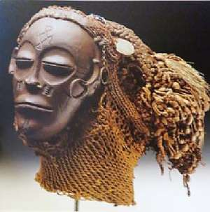 Pwo Mask, Chokwe, Angola, now in Ethnologisches Museum, Berlin, Germany.