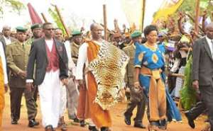 King Kabaka Ronald Muwenda Mutebi of Buganda and his entourage