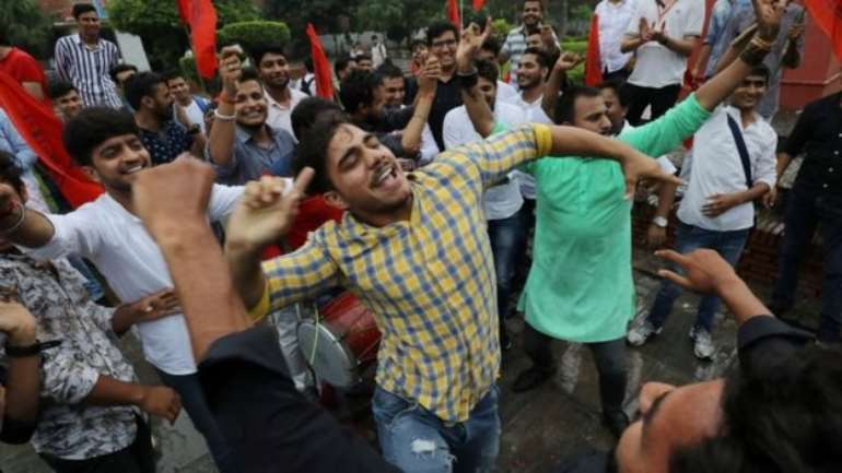 Supporters of India's ruling BJP have been celebrating the move