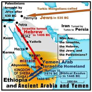 Who are the Israelite, Hebrew, Jews, and Palestinians