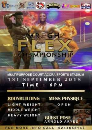 Mr. GH Flex Bodybuilding Championship Set For September 1