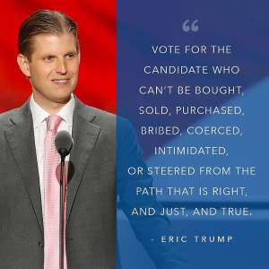 Running Government Is Not Like Running A Family Business Mr. Eric Trump Jnr