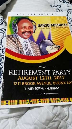 US Based Broadcast Legend; Danso Abebrese Retirement Party In NY
