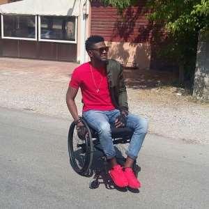 Meet Ogidi; The Only Hiplife Artiste In A Wheel Chair