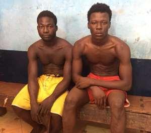 Convicts Imoro Abdul Rahman and Mubarik Abu