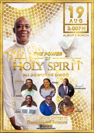 """Nii Dowuona Owoo set to release """"The Power of Holy Spirit"""" Album"""