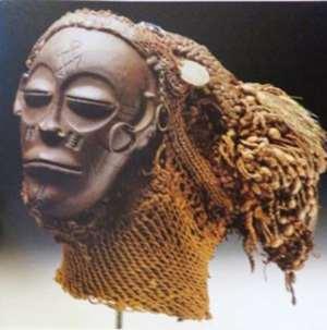 Pwo Mask, Chokwe, Angola, now in Humboldt Forum, Berlin, Germany.