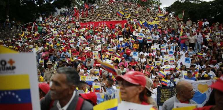 The huge rally to launch the #no more trump campaign in Caracas was largely ignored by global corporate media outlets.