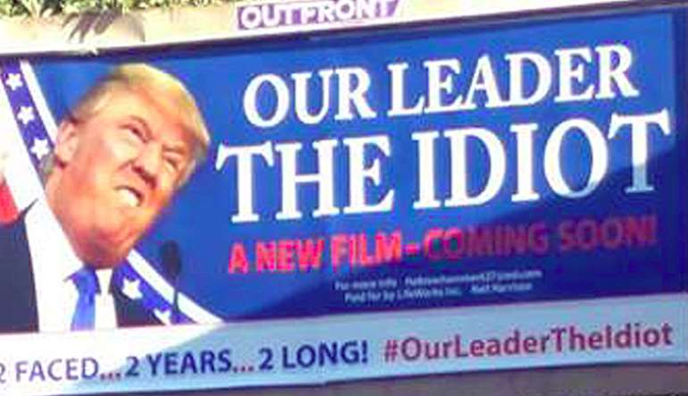 Bill board in New Jersey, USA