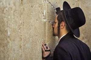 A Jewish man praying