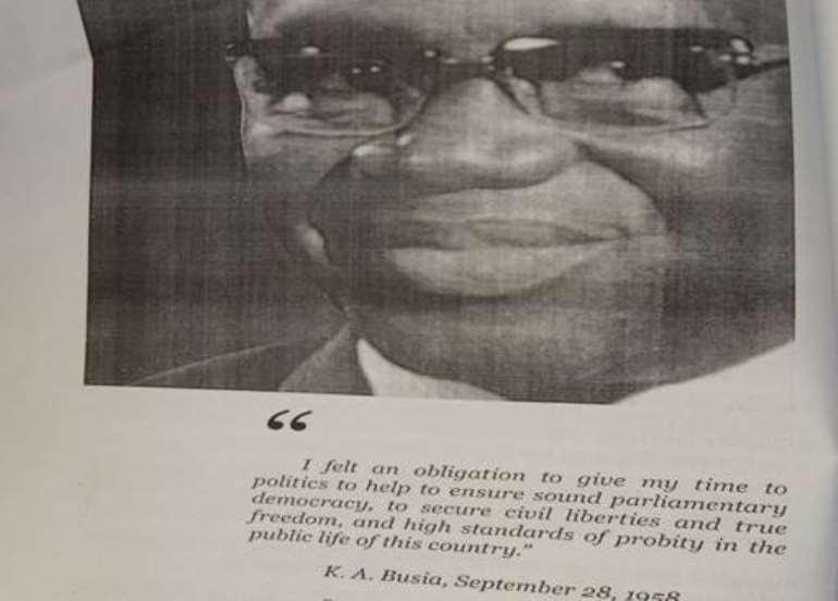 PICTURE credit K. A. Busia – Symbol of Democracy – Anana Agyei