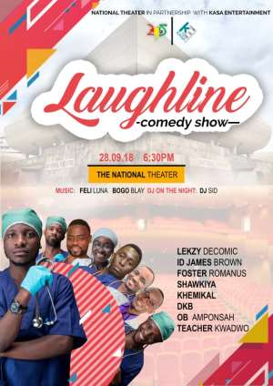 LAUGHLINE Comedy Show Set To Light Up The National Theatre On September 28