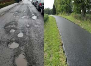The difference between an African bad road and a good road in Europe