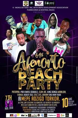 Patapa, Kemenya, Fiamor, Double and others to Headline 2018 Mepe Apenorto Festival Beach Party.