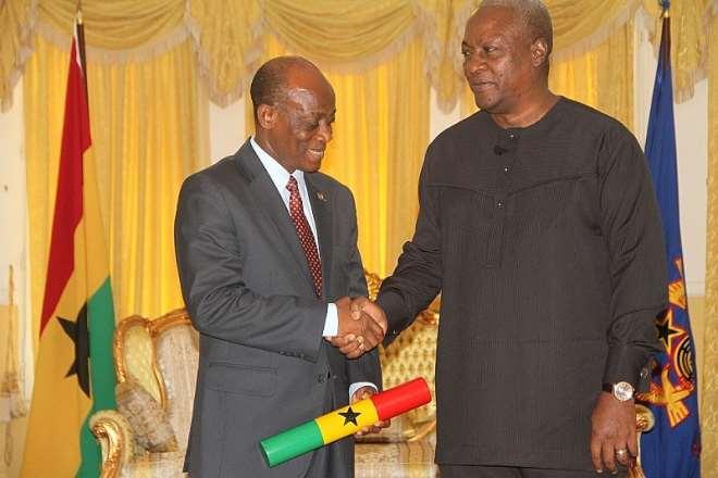 Former President John Mahama And Former Finance Minister Seth Tekpe