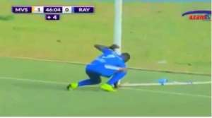 "THIS IS AMAZING!!! Striker Picks ""Black Magic"" From Opponents' Goal Post And Scores A Minute Later [VIDEO]"