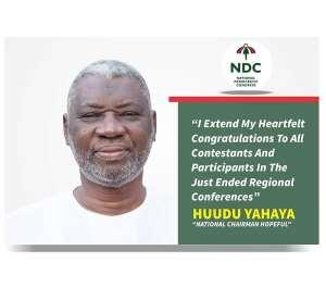 Alhaji Huudu Yahaya Congratulates Newly Elected NDC Regional Executives