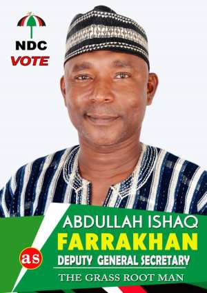 Abdullah Ishaq Farrakhan Files For NDC Deputy General Secretary Position