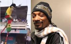 Snoop Dogg Teases Gh Stilt Walker Who Fell During A Public Display