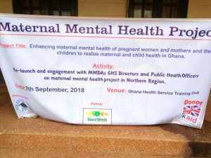 Maternal Mental Health Project Relaunched In Tamale