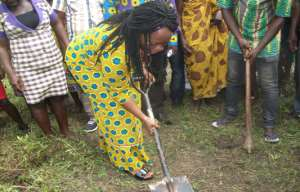 Tain DCE Cut Sod For Construction Of 3 Unit Classroom Block