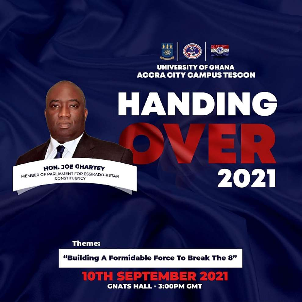 Presidential Candidate Aspirant Joe Ghartey to deliver keynote address on 'breaking the 8' at TESCON handing over ceremony