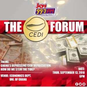 Joy Fm Cedi Forum: Stemming Tide Of Depressing Cedi Depreciation