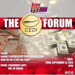 Joy Fm Cedi Forum: Stemming Tide Of Depressing Cedi Depreciation