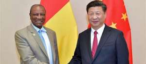 The Guinean leader, Alpha Condé and Chinese leader: Xi Jinping: The Chinese leader has to help Guinea fight Ebola to keep business with his country